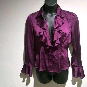 Gorgeous Purple 💜 Ruffle Blouse